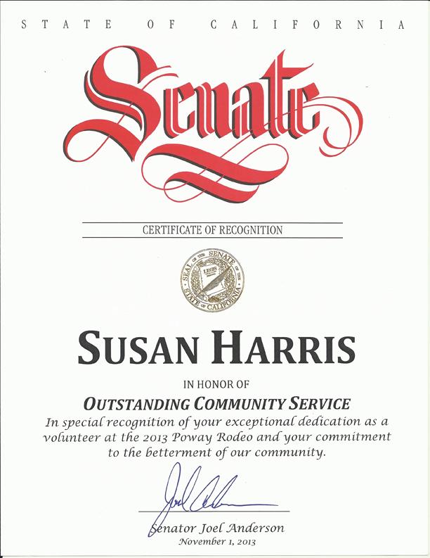 Senate Certificate crop